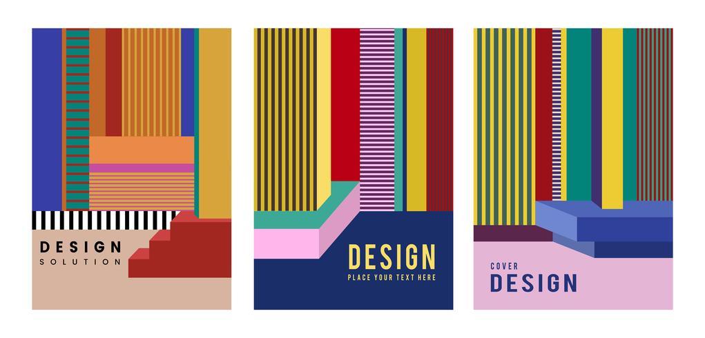 Modern färgrik affischdesign grafisk