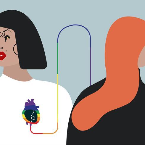 Färgglada blodtransfusionsvektorillustration