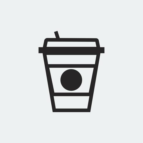 Illustration graphique de tasse à café à emporter