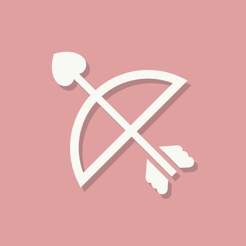 Amorini freccia icona di giorno di San Valentino