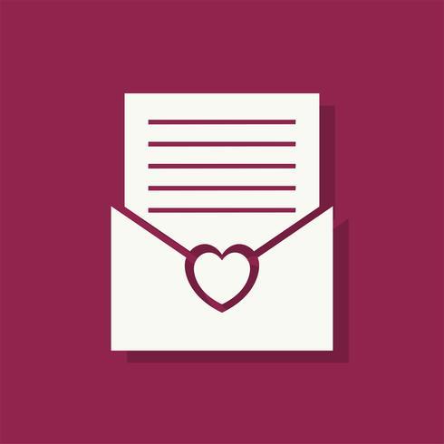 Lettre d'amour icône Saint Valentin