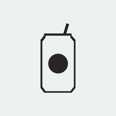 Can of soda drink icon illustration