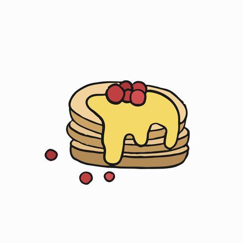 Blini ryska pannkakor grafisk illustration