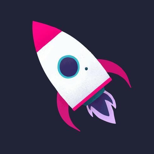 Rocket social media icon vector