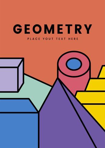 Färgrik geometri mockup grafisk design