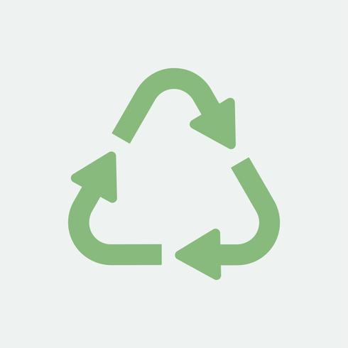 Recycle eco symbol isolated on background