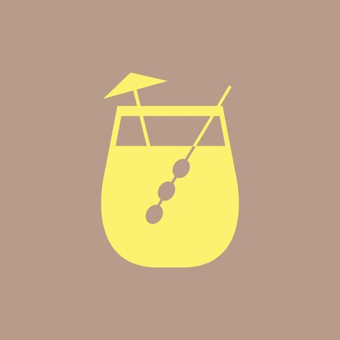 Illustration de verre à cocktail Umbrella drink
