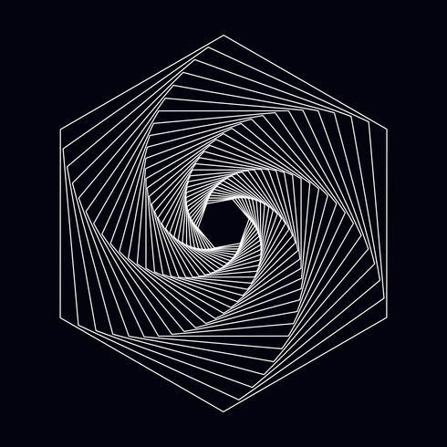 Abstrakter geometrischer Elementvektor des Hexagons