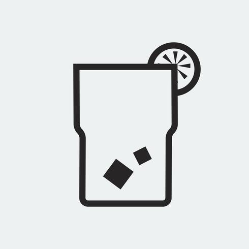 Glas limonade ikon illustration