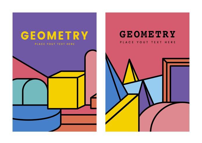 Design grafico mockup geometria colorata