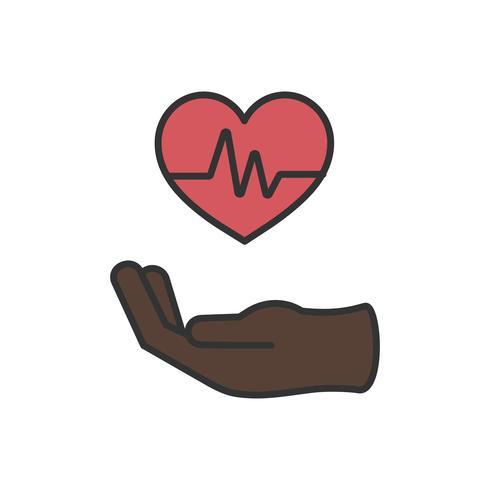 Illustratie van gezonde levende pictogrammen
