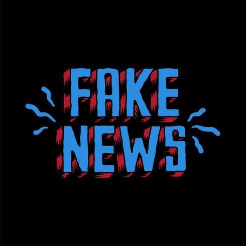 Fake news word typography illustration