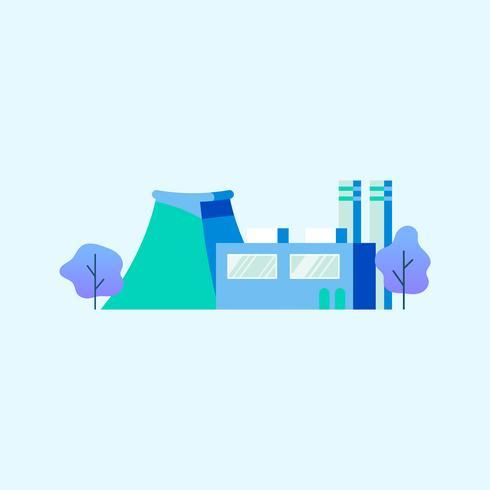 Generatore di corrente in fabbrica in blu