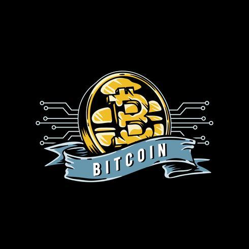 Mão desenhada bitcoin icon ilustração