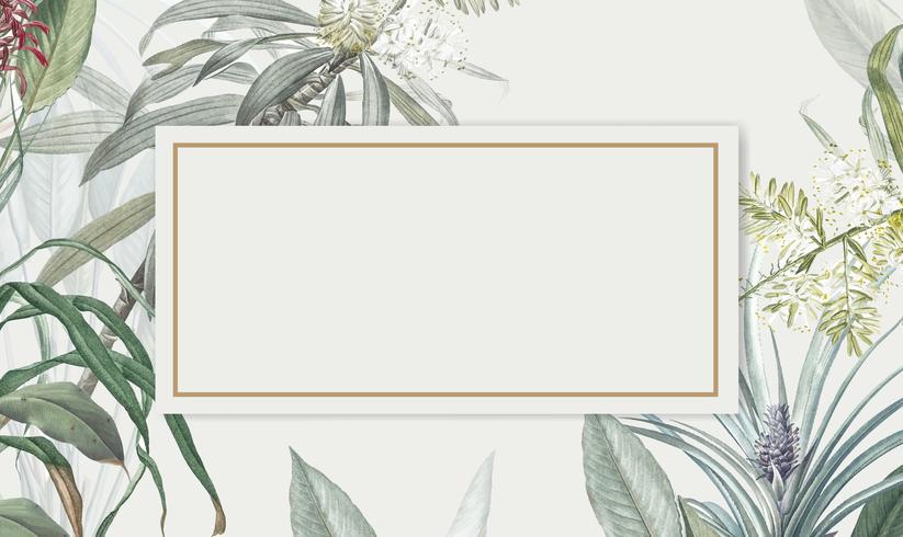 Tropical foliage mockup illustration