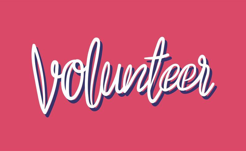 Volunteer typography design