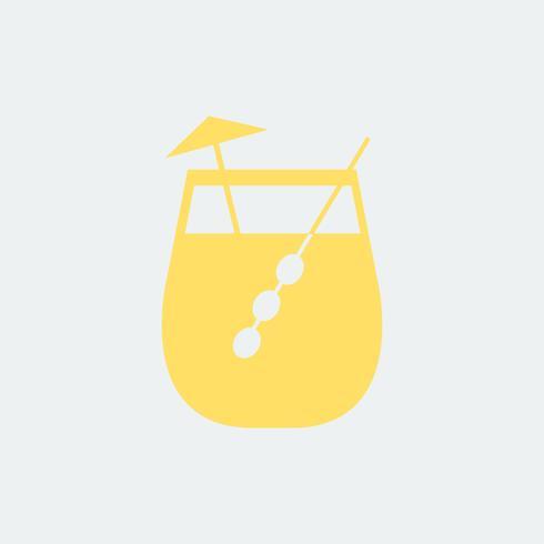 Paraplu drinken cocktailglas illustratie