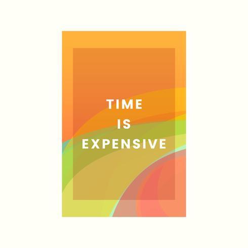 Zeit ist teuer, farbenfrohes Grafikdesign
