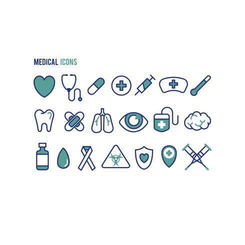 Set medizinische Gesundheitsikonen