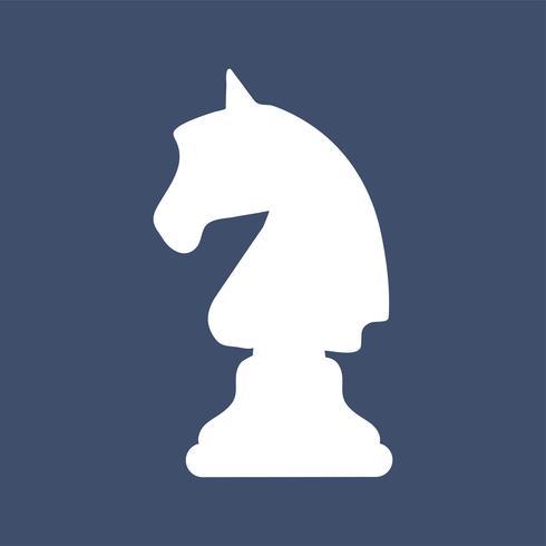 Ridder paard schaakstuk pictogram