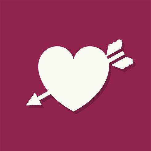 Hart vorm Valentijnsdag pictogram