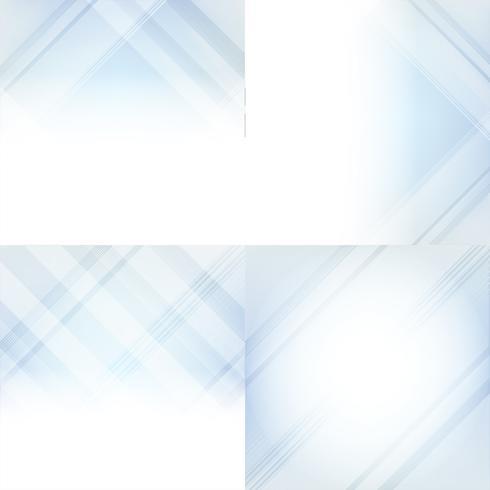 Blå och vit gradient abstrakt bakgrundsuppsättning