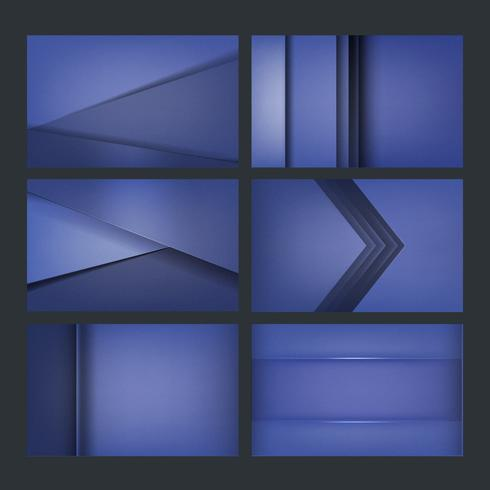 Sats med bakgrundsdesign i blått