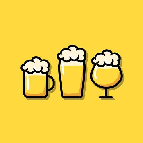 Gafas de cerveza icono ilustración