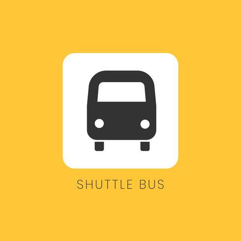 Gele shuttle pictogram teken vector