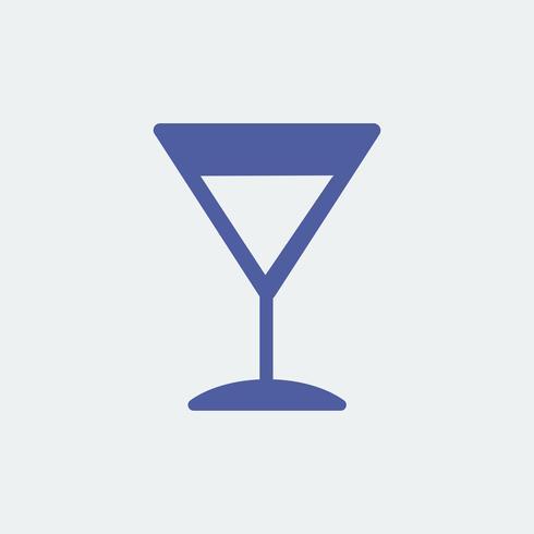 Ilustração de ícone de copo de cocktail Martini