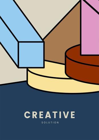 Diseño gráfico de geometría colorida creativa.
