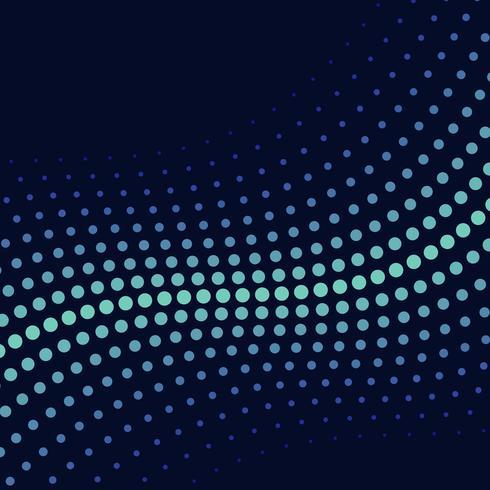 Vector de fondo de semitono de onda verde