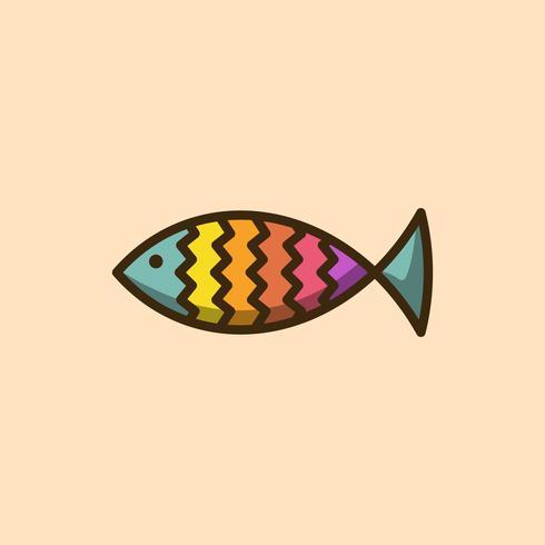 Icona di forma semplice di pesci colorati