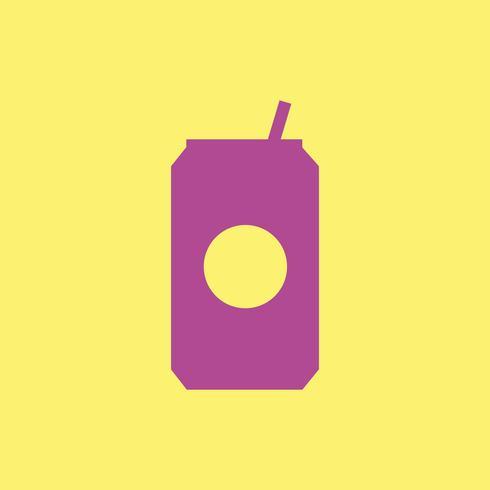 Lata de soda bebida icono ilustración