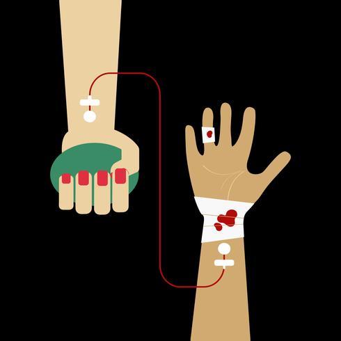 Clipart dell'illustrazione di vettore di trasfusione di sangue