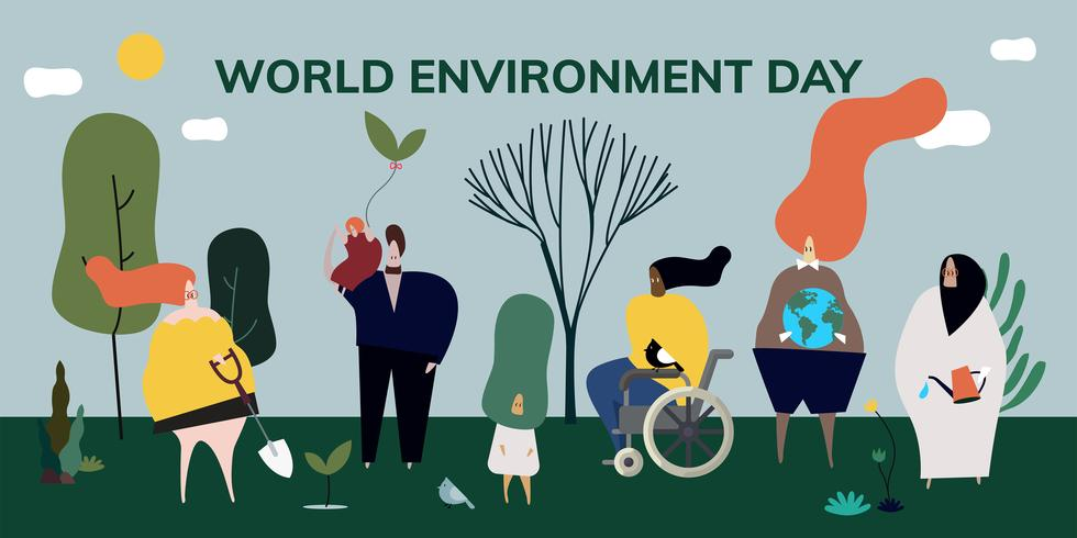 World environment day concept illustration