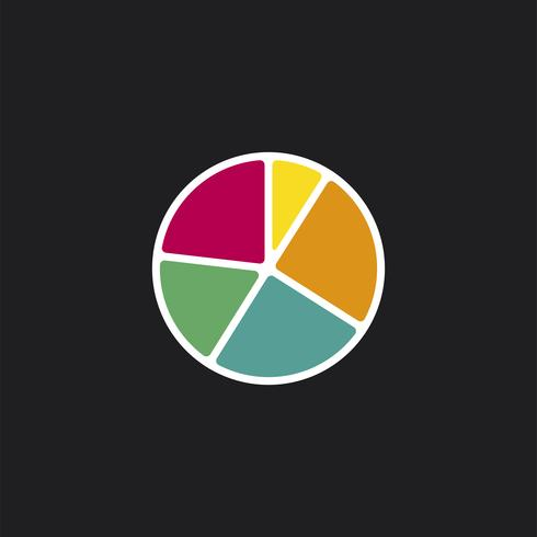 Colorful business pie chart icon illustration