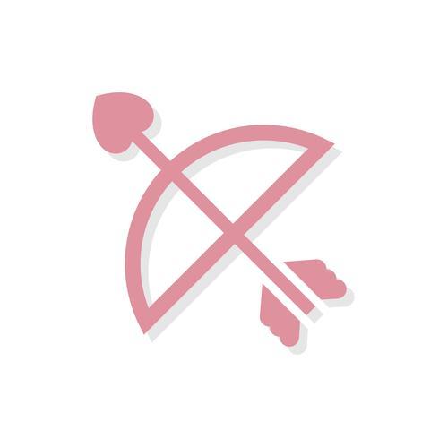 Cupids arrow Ícone do dia dos namorados