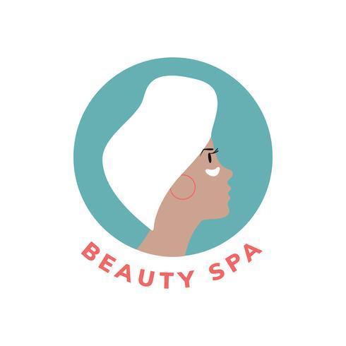Vetor de ícone de spa e beleza