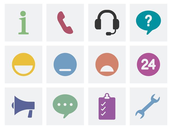 Illustrazione delle icone di concetto di comunicazione