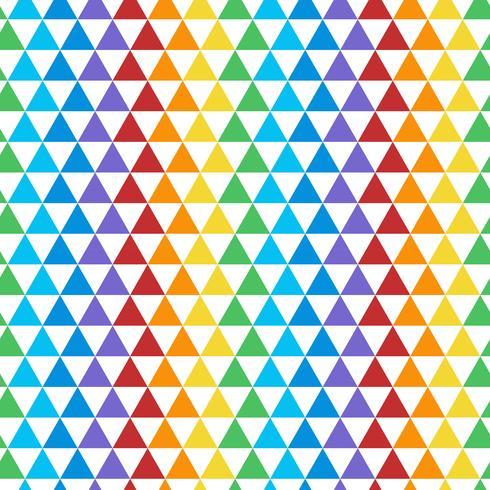 Naadloze kleurrijke driehoekige patroonvector