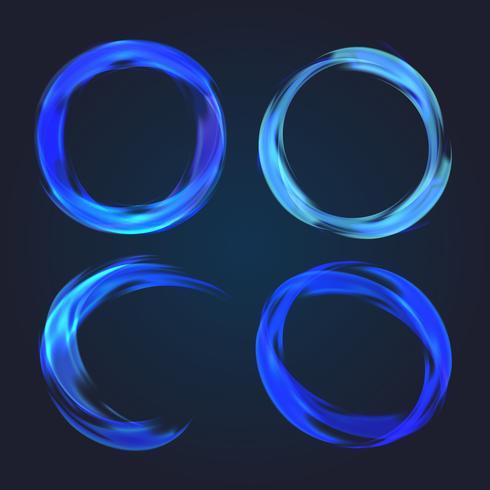 Abstrakt cirkulär samling