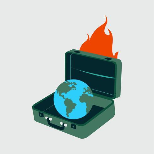 Skydda planeten jorden från global uppvärmning illustration