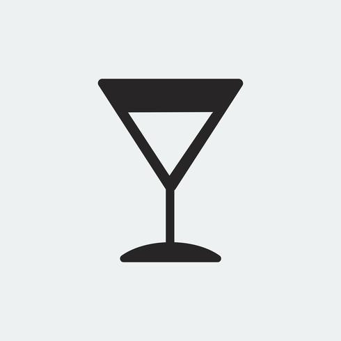 Martini-Cocktailglasikonenillustration