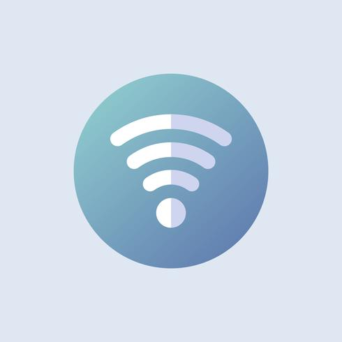 Wifi icon vector in blue