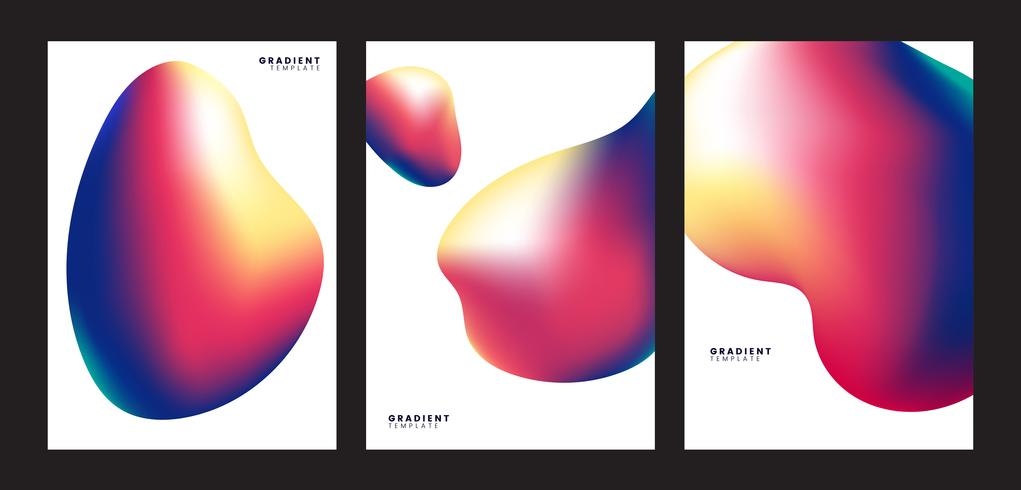 Design de plano de fundo colorido gradiente modelo