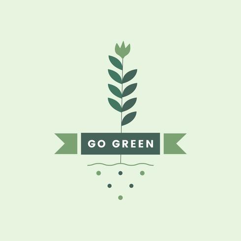 Ga groen voor het milieupictogram
