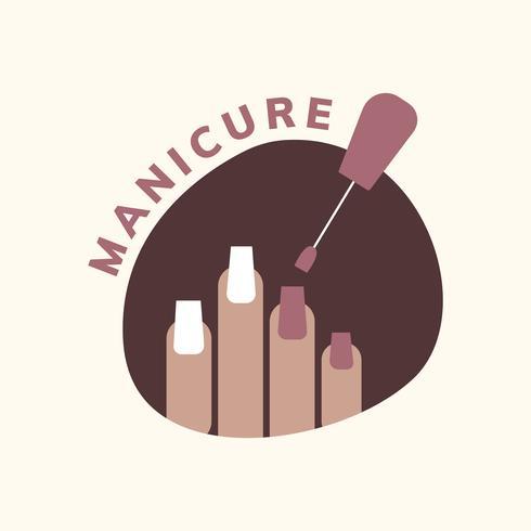Salon-Logo für Maniküre und Pediküre