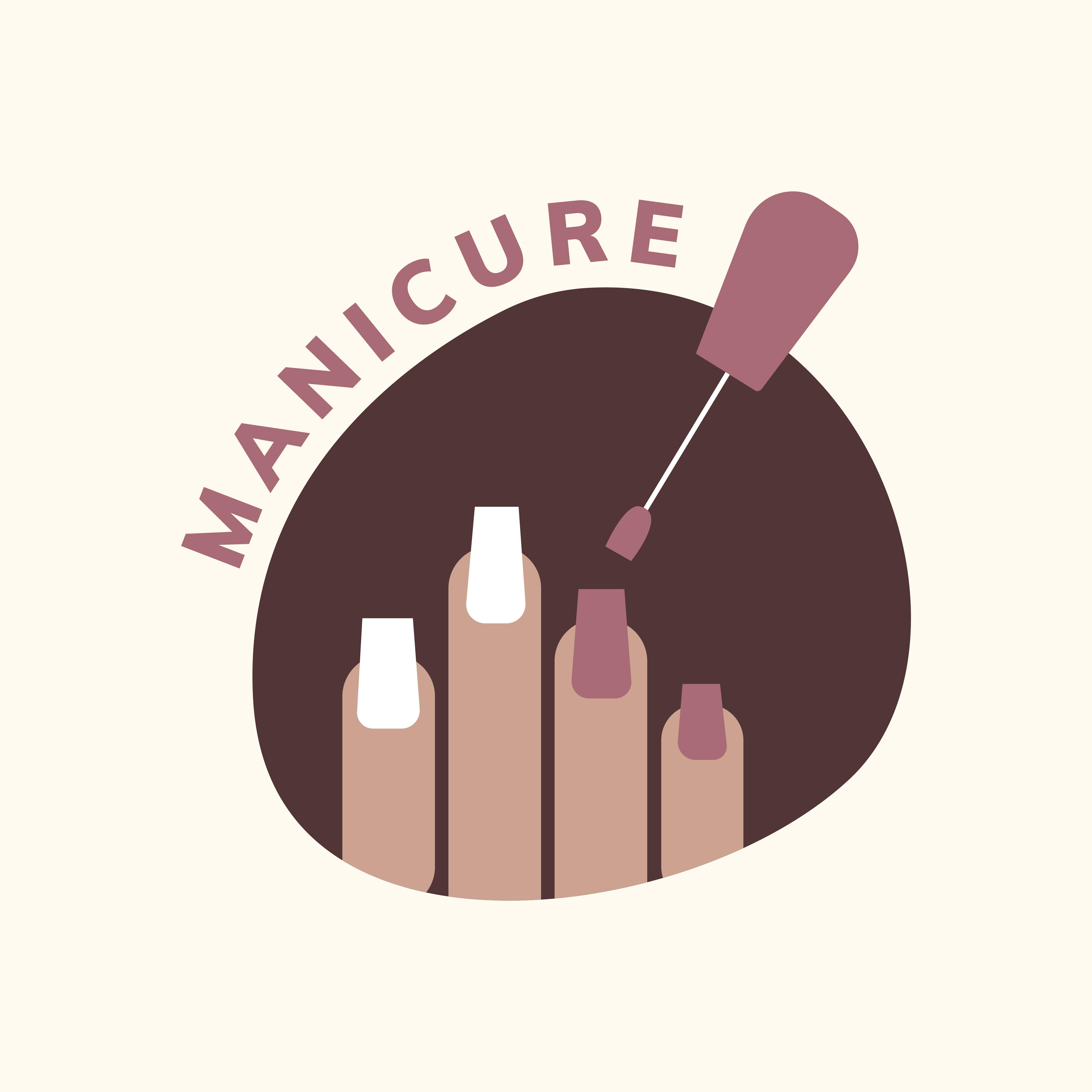 Manicure And Pedicure Salon Logo