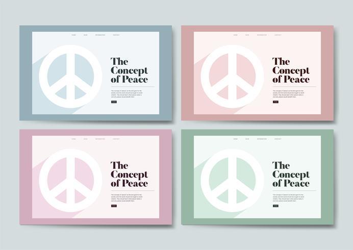 Grafica del sito web informativo sulla pace e la libertà